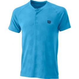 Pánské tričko Wilson Power Seamless Henley Blue