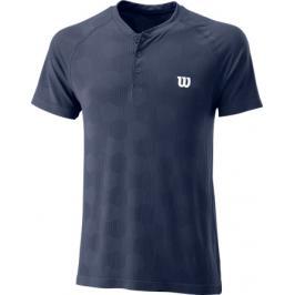 Pánské tričko Wilson Power Seamless Henley Navy