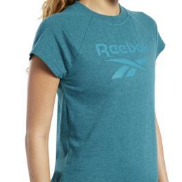 Dámské tričko Reebok Texture Logo modré