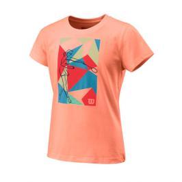 Dětské tričko Wilson Prism Play Tech Tee Papaya