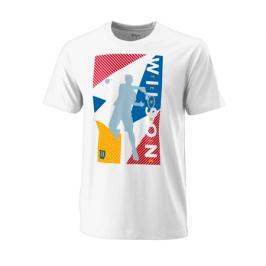 Pánské tričko Wilson Geo Play Tech Tee White