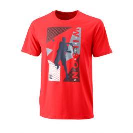 Pánské tričko Wilson Geo Play Tech Tee Red