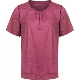 Dámské tričko Endurance Q Bree Melange SS Tee vínové