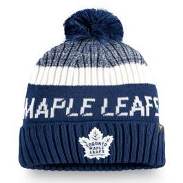 Čepice Fanatics Authentic Pro Rinkside Goalie Beanie Pom Knit NHL Toronto Maple Leafs