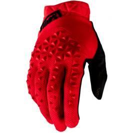Cyklistické rukavice 100% Geomatic červené