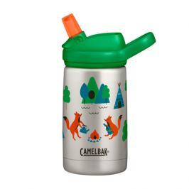 Dětská láhev CamelBak Eddy+ Kids Vacuum Stinless 0.35l Camping Foxes