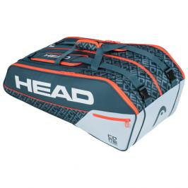 Taška na rakety Head Core 9R Supercombi Grey/Orange 2020