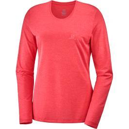 Dámské tričko Salomon Agile LS Tee červené