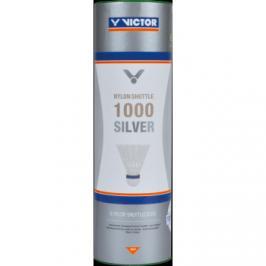 Badmintonové míče Victor Nylon Shuttle 1000 Silver - White 6 ks