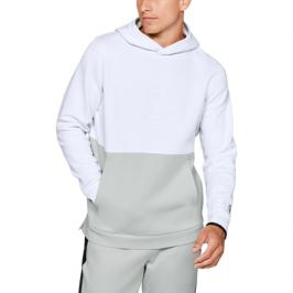 Pánská mikina Under Armour Athlete Recovery Fleece Graphic Hoodie bílá