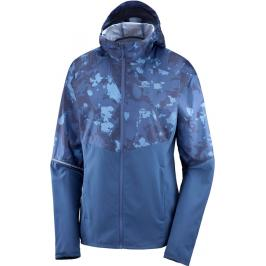 Dámská bunda Salomon Agile FZ Hoodie modrá