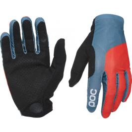 Dlouhoprsté cyklistické rukavice POC Essential Print Glove modro-červené