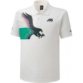 Pánské tričko Mizuno Archive Polo Eagle Collection White