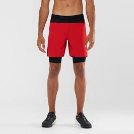 Pánské šortky Salomon EXO Motion Twinskin cervene