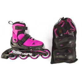 Inline brusle Rollerblade Combo G SET Pink