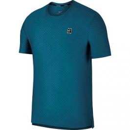 Pánské tričko Nike Court Checkered Green Abyss