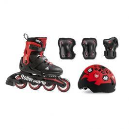 Inline brusle Rollerblade Cube SET Black/Red