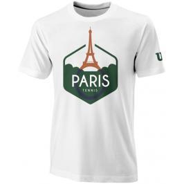 Pánské tričko Wilson Paris Tech White