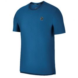 Pánské tričko Nike Court Checkered Military Blue