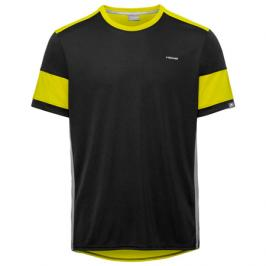 Pánské tričko Head Volley Black/Yellow