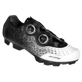 Cyklistické tretry Force MTB SCORE bílo-černé