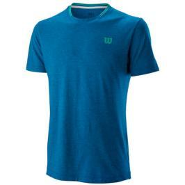 Pánské tričko Wilson Competition Flecked Crew Blue