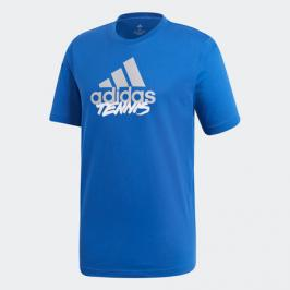 Pánské tričko adidas Tenis Logo Royal Blue