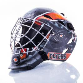 Mini brankářská helma Franklin NHL Philadelphia Flyers