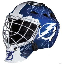 Mini brankářská helma Franklin NHL Tampa Bay Lightning