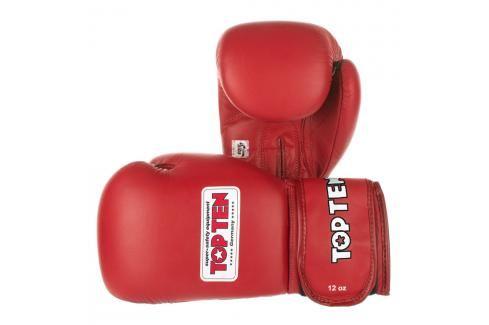 Boxerské rukavice Top Ten AIBA 2014 - červená červená 10 Boxerské rukavice