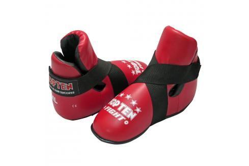 Chrániče nohou TOP TEN Fight - červená červená L Boxerské chrániče