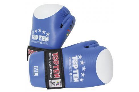 Otevřené rukavice TOP TEN ITF Superfight 3000 - modrá modrá XL Boxerské rukavice