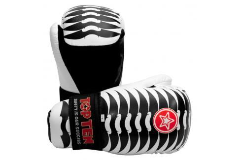 Otevřené rukavice Top Ten Individuals - Ribs bílá XL Boxerské rukavice