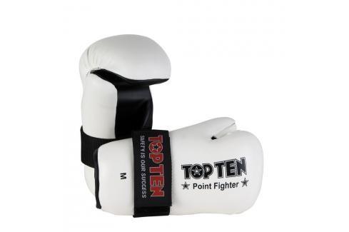 Otevřené rukavice Top Ten Point Fighter - bílá bílá S Boxerské rukavice