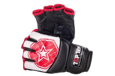 MMA Rukavice - TOP TEN MMA - OCTAGON-bílá bílá XL Boxerské rukavice