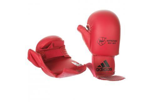 Chrániče rukou na karate adidas WKF červená s palcem červená XS Boxerské rukavice