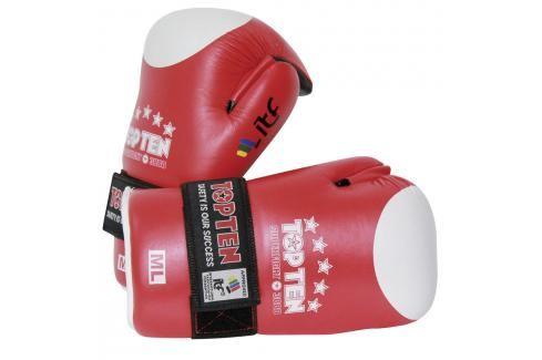 Otevřené rukavice TOP TEN ITF Superfight 3000 - červená červená M/L Boxerské rukavice