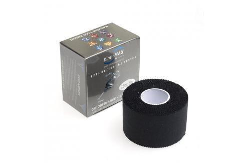 Neelastická tejpovací páska Kine-MAX Team Tape - černá černá 3,8cm x 10m Boxerské bandáže