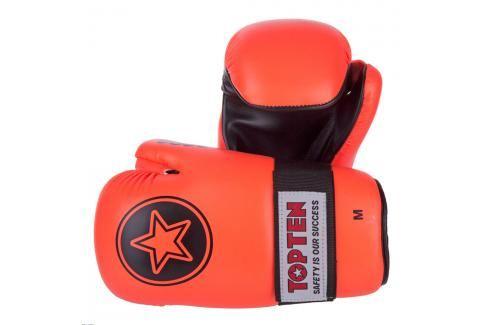 Otevřené rukavice Top Ten Point Fighter - oranžová oranžová L Boxerské rukavice