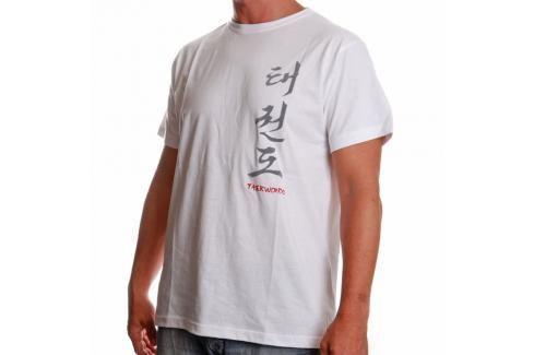 Triko Satori kaligrafie - TAEKWONDO - bílá bílá L Pánská trička
