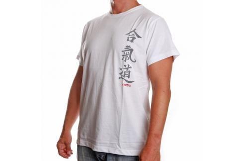 Triko Satori kaligrafie - AIKIDO - bílá bílá S Pánská trička