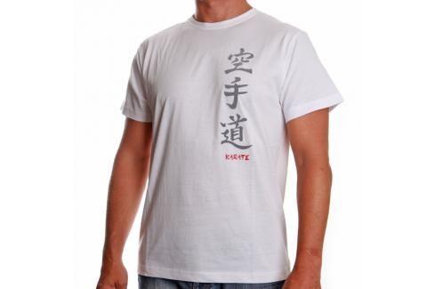 Triko Satori kaligrafie - KARATE - bílá bílá XL Pánská trička
