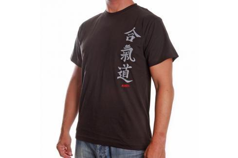 Triko Satori kaligrafie - AIKIDO - černá černá M Pánská trička