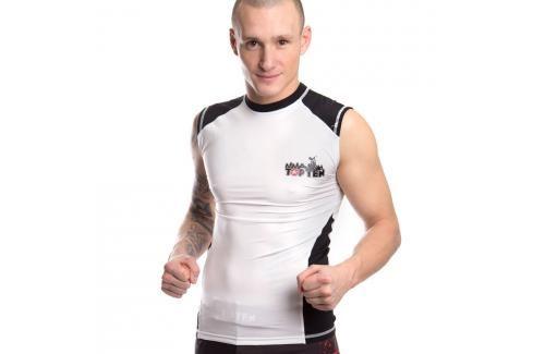 Rashguard Top Ten MMA - bílá bílá XXL Pánská trička
