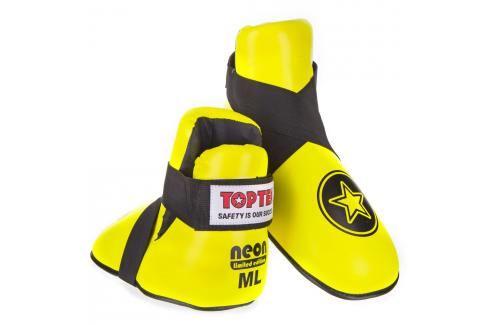 Chrániče nohou Top Ten STAR - neon. žlutá neon. žlutá M/L Boxerské chrániče