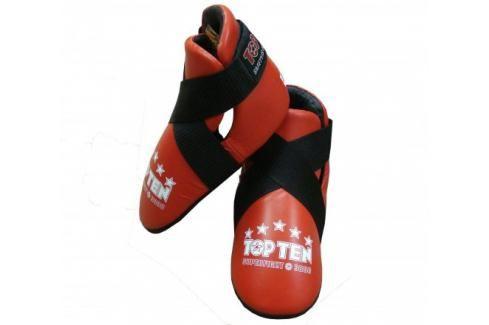 Chránič nohou TOP TEN Superfight 3000 - červená červená L Boxerské chrániče