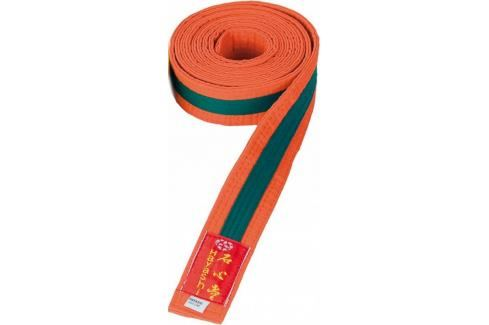 Pásek Hayashi - oranžová/zelená oranžová 320 Pásky ke kimonu