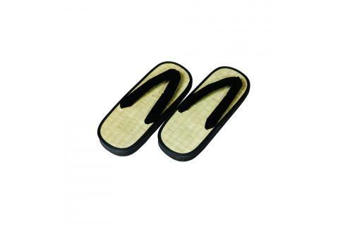 Zori Y - rákos - béžová/černá béžová 40 Pánská obuv