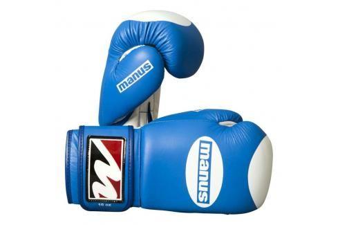 Manus kožené rukavice s terčíkem - modrá/bílá modrá 10 Boxerské rukavice
