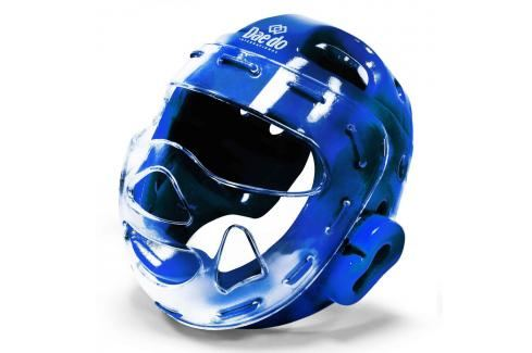 Daedo přilba WTF s maskou - modrá modrá M Boxerské helmy